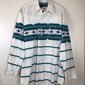 Roper Western Pearl Snap Shirt XXL